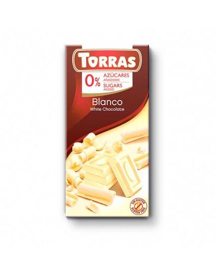 Torras - White chocolate 0% added sugar 75g