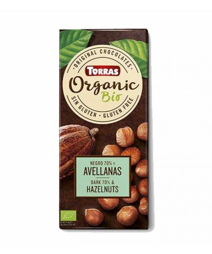 Torras - 70% dark chocolate and hazelnuts Organic Bio 100g