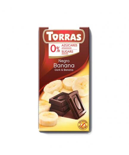 Torras - Dark chocolate with banana 0% added sugar 75g
