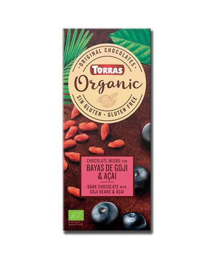 Torras - Dark chocolate with goji berries and acai Organic Bio 100g