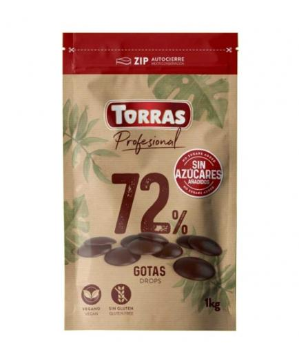 Torras - Chocolate drops 72% cocoa without added sugar 1kg
