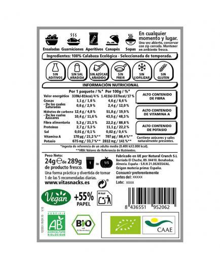Vitasnack - Natural crunchy fruit snack - pumpkin