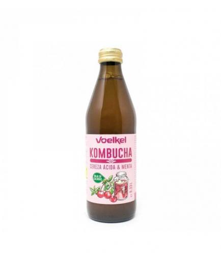 Voelkel - Kombucha Refreshing Drink 330ml - Tart Cherry and Mint