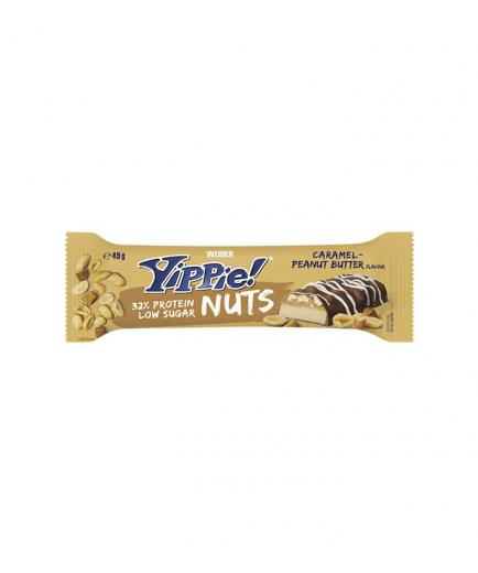 Weider - Yippie Protein Bar! Nuts 45g - Peanut and caramel
