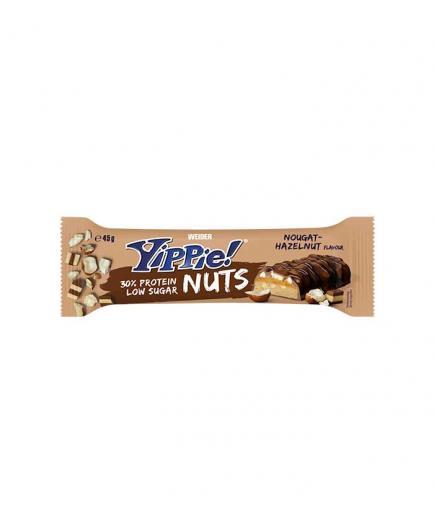 Weider - Yippie Protein Bar! Nuts 45g - Nougat and hazelnut