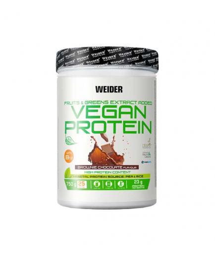 Weider - Vegan Protein 750g - Chocolate Brownie