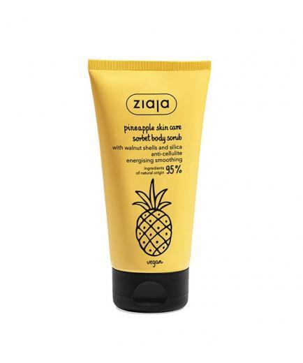 Ziaja - Anti-cellulite body scrub with walnut shells and silica - Pineapple