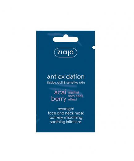 Ziaja - Night mask for face and neck - Acai Berry