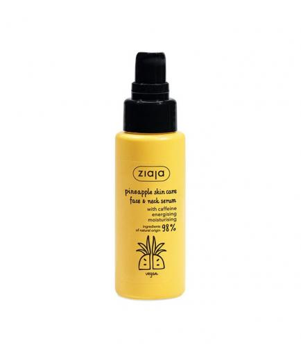 Ziaja - Serum for face and neck with caffeine - Pineapple
